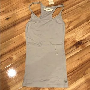 NWT Abercrombie tank style top size small gray